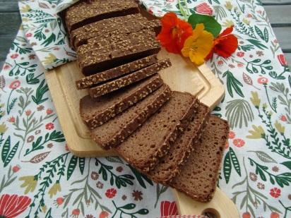 teffbrood met mais met zuurdesem gerezen